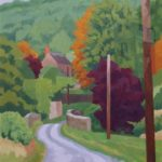 "Below Wenlock Edge. Oil on canvas. 18"" x 24"". SOLD"