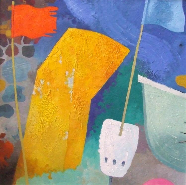 Orange Flag, oil on canvas. COMMISSION