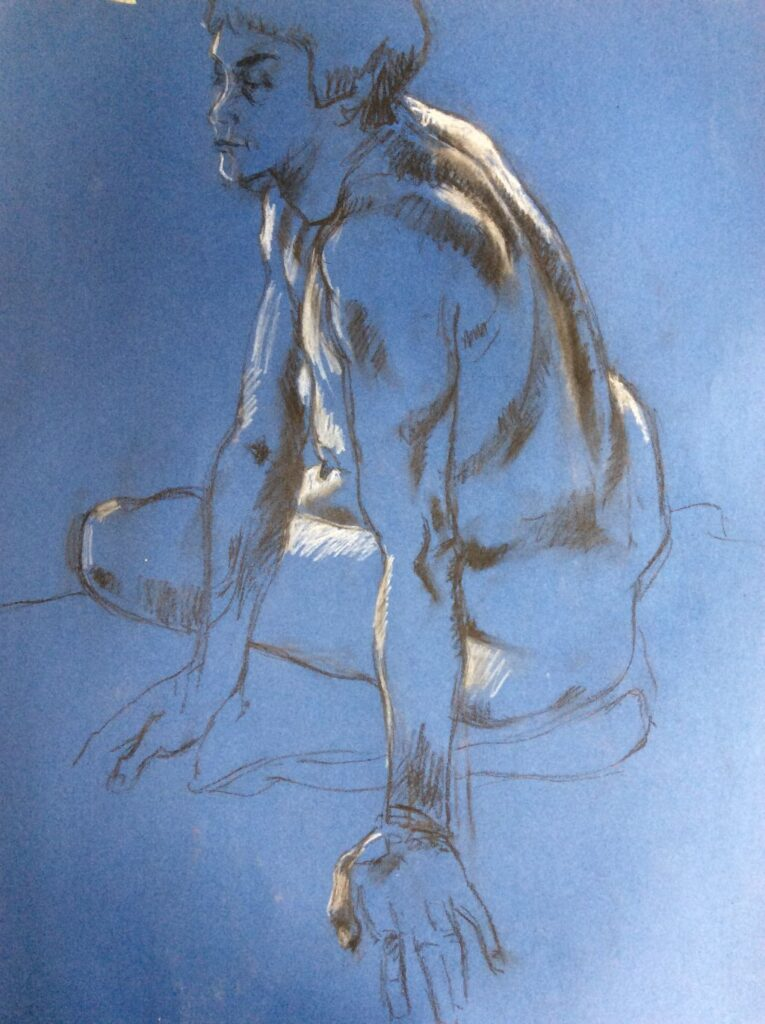Blue Nude Charcoal