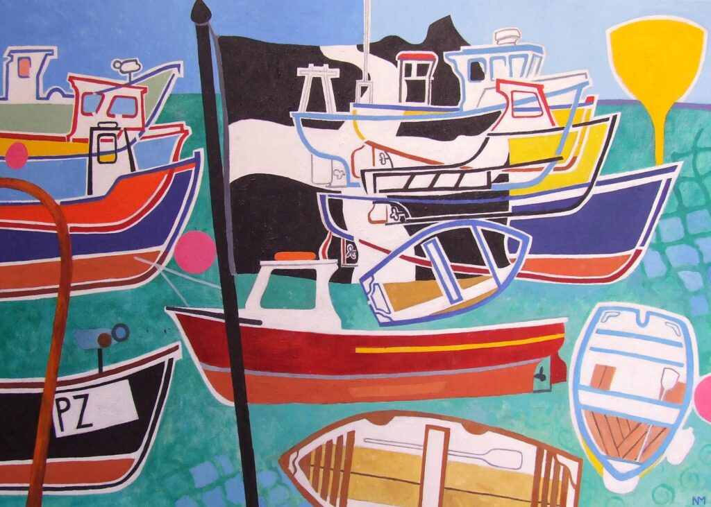 Porthleven Boats, oil on canvas. COMMISSION